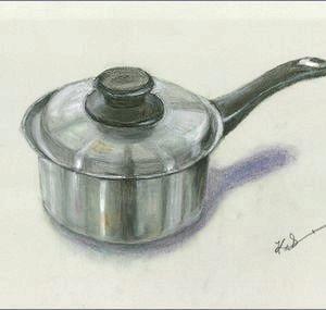 ビタクラフトの鍋  ( オイルパステル画 )
