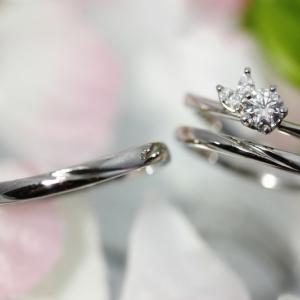 個性的で可愛い婚約指輪とシンプルで美しい結婚指輪 雅 表参道