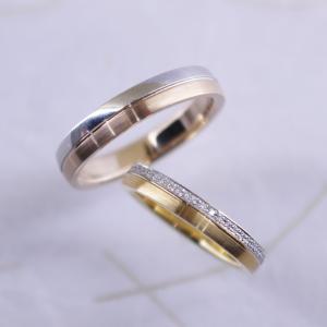 幅も厚みもしっかりと持たせたご結婚指輪