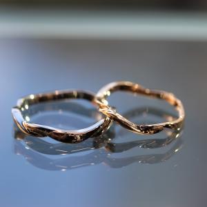 <雅-miyabi->お手元を華やかにしてくれる結婚指輪・鍛造製法の指輪♬