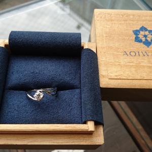 葵山葵 和をイメージしたデザインのご婚約指輪