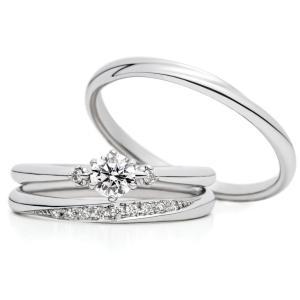 大人可愛いフェミニンなセットリング 婚約指輪 結婚指輪 AFFLUX 雅 表参道