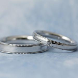 職人による高度な手作業♡*上品なミル打ちデザイン結婚指輪【京都本店】