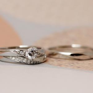 """""""愛の誓い""""に身に着けるエレガントな婚約指輪&結婚指輪✧*【京都本店】"""