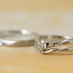 """甘くなりすぎない""""♡""""が嬉しい!お揃いで身に着けたいバラの結婚指輪✧*【京都本店】"""