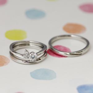和がお好きなお二人に♡*自然の趣感じる上品な婚約指輪と結婚指輪❀【京都本店】
