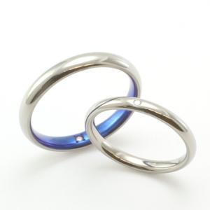 飽きのこないシンプルデザイン♪アレルギーフリーの結婚指輪【京都本店】