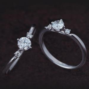 夏を彩る優しく、可愛らしいお花をモチーフにした婚約指輪【京都本店】