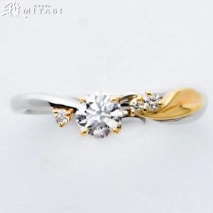春風に揺られ、2人の初々しい春を思い出させる婚約指輪【京都本店】