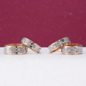 かっこよくてかわいい和デザインの結婚指輪(マリッジリング)♪