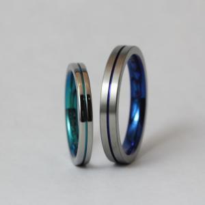 自分の好きな色が選べる金属アレルギー対応の結婚指輪【京都本店】