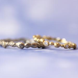 〈おと〉から生まれたクラフト感のある結婚指輪【京都本店】