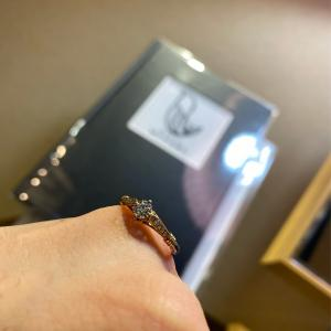想い出を形にしたペア感がしっかりと感じられる指輪❀【京都本店】