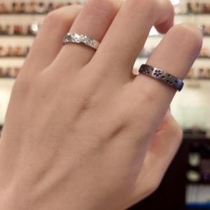 ポイントの発色が美しい結婚指輪✩【京都本店】