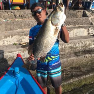 バリ島大自然マングローブでバラマンディ釣り