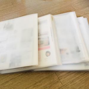 無印良品のクリアフォルダーで雑誌の切り抜きを整理する