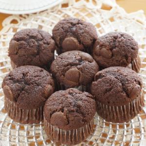 チョコレートのカップケーキ