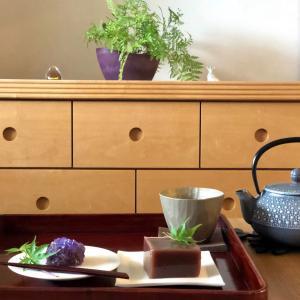 手づくり和菓子 紫陽花と水羊羹