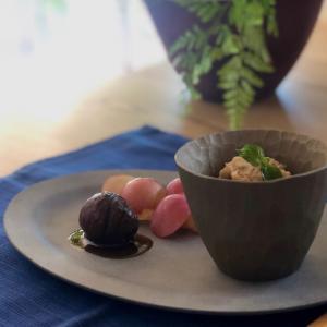 栗の渋皮煮とマロンペースト作り 〜 パフェへ