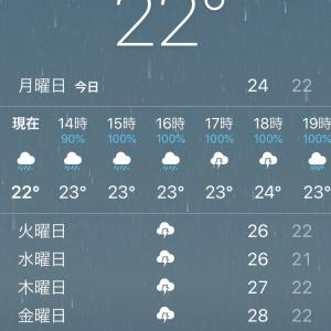 天気予報が‥