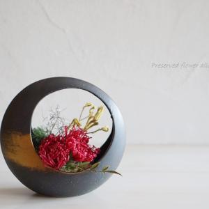 お持込みの花器で…☆和モダンアレンジ
