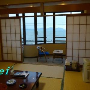 若狭小浜「サンホテルやまね」(3)お部屋からの眺めと朝食 〔福井県小浜市〕