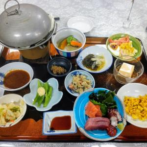 鹿沢温泉「鹿の湯つちや」(4) 夕食 〔群馬県嬬恋村〕