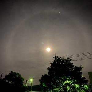 美しい満月とレイドウレイキ瞑想会