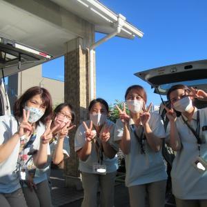 たんぽぽ甚目寺「台風一過の青い空♪」