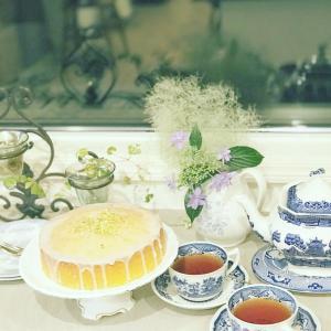 お茶クラス再開まであと少し 初回はティータイム実際クラス レモンドリズルケーキ