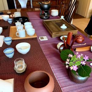 今週のお茶クラス  中国茶は息子さんカップルと  紅茶は、ティータイムベイキング