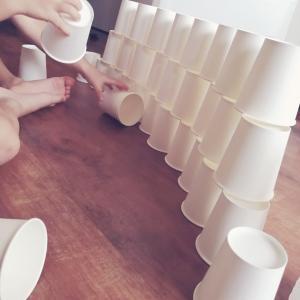 紙コップタワー