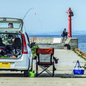 香西港の釣り人達