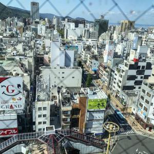 瓦町フラッグ8階から高松市を見下ろすと