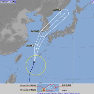 台風5号・・・