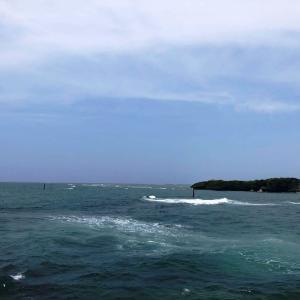 海は荒れ気味・・・