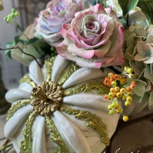 カボチャと薔薇!ハロウィンアレンジメント