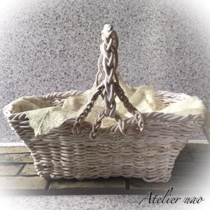 粘土で編み編み!涼しげなホワイトボックス