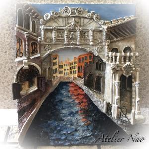 夏の思い出!粘土で描くヴェネツィアの街
