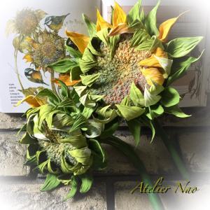 粘土で作った秋の向日葵!