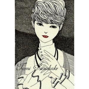 ペン画「ショートヘアーの女性」