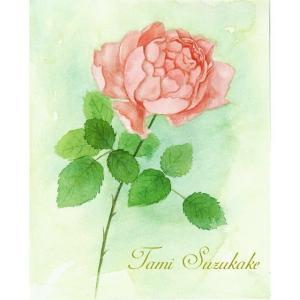 絵画販売・水彩・原画「一厘の薔薇の花」