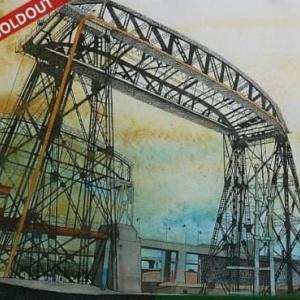 SOLDOUT・水彩・原画「アルゼンチンのアベジャネダ橋」お買い上げいただきました。