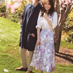 お花見デート♡桜とリンクさせた 花柄スカートで華やか気分UP♪