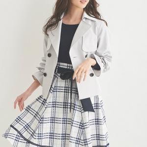 【きちんと感】清涼感たっぷりに装えるチェック柄が春らしいコーデに見せてくれるフレアスカート。