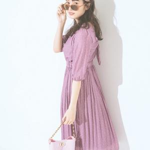 渡辺梨加さん着用「くすみピンク」ワントーンで上品なお嬢様コーデ♡ #渡辺梨加