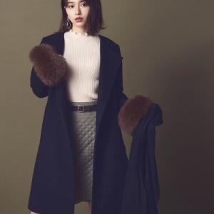 山本舞香さんがリラの秋の新作アイテムを、可愛く着用しています♪