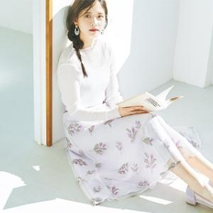 【金川紗耶さんの甘い春色コーデ日記】ふんわり癒しフレーバーなラベンダーラテを纏って♡