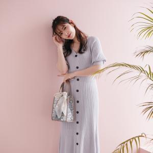 【お勧め】鈴木愛理さん着用の一枚でコーディネートが決まる時短ニットワンピース