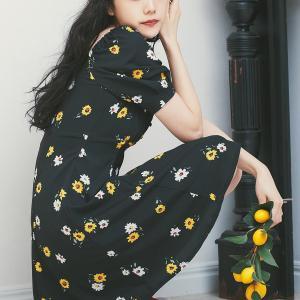 マーガレット柄が可愛いミニワンピース。#ダズリン#dazlin#松井愛莉